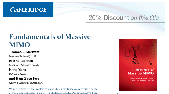 Massive mimo news commentary mythbusting download coupon for fundamentals of massive mimo fandeluxe Images